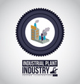 Industry design over white background vector image