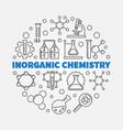 inorganic chemistry round in vector image vector image