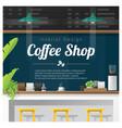 interior scene of modern coffee shop counter bar vector image vector image