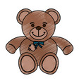 isolated teddy bear toy design vector image