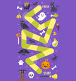 kids halloween game template vector image vector image