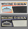 layouts for berlin vector image vector image