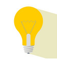 light bulb with shadow vector image vector image