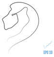 lion head one line style vector image vector image
