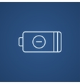 Low power battery line icon vector image