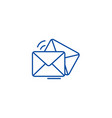 mailemailenvelope line icon concept mailemail vector image vector image