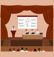 medical conference session in a assembly hall vector image