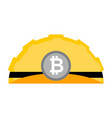 meiner bitcoin helmet isolated mining hat cap vector image