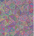 Multicolored chaotic triangle mosaic background vector image vector image