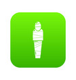 mummy egypt icon green vector image