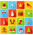 New Year Colorful Icons vector image vector image