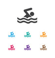 of lifestyle symbol on pool vector image vector image