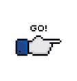 pixel theme hand gesture sign vector image vector image