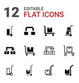 relocation icons vector image vector image