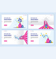 return on investment roi chart and graph vector image vector image