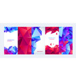 set facet geometric covers and poster vector image