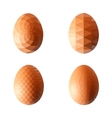 set of eggs in polygonal style vector image