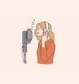 singer blogger and radio program concept vector image