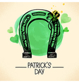 St Patricks Day background with hand drawn sketch vector image vector image