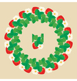 strawberry circle 2 380 vector image vector image
