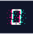 telephone in trendy glitch style vector image