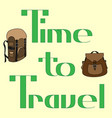 text-time to travel-2 vector image