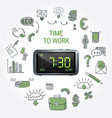 time to work round composition vector image vector image