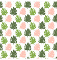 tropic plant seamless pattern vector image vector image
