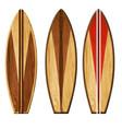 watercolor wooden surf boards vector image