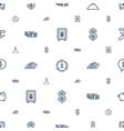 wealth icons pattern seamless white background vector image vector image