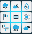 weather colored icons set collection of cloudy vector image vector image