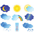 weather elements vector image