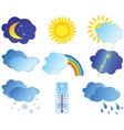 weather elements vector image
