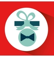 happy fathers day with gift bowtie vector image