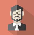 Modern Flat Design Businessman Icon vector image