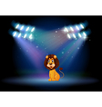 A friendly lion at the center of the stage vector image vector image