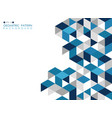 abstract dark blue geometric background vector image vector image