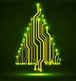 abstract technology christmas tree vector image vector image