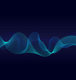 abstract wavy particles surface on dark blue vector image vector image