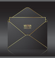 black envelope template vector image vector image