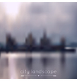 blurred background with city and river vector image