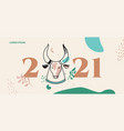 boho in year bull vector image