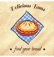 Bread On A Napkin 25 vector image vector image