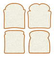 bread slices vector image vector image