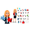 business woman in office style clothes vector image vector image