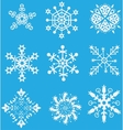 Christmas set snowflake vector image