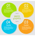 Circle colorful numbered banners vector image