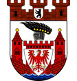 coat of arms of spandau in berlin germany vector image