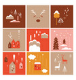 collection minimalist images christmas theme vector image
