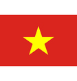 Colored flag of Vietnam vector image